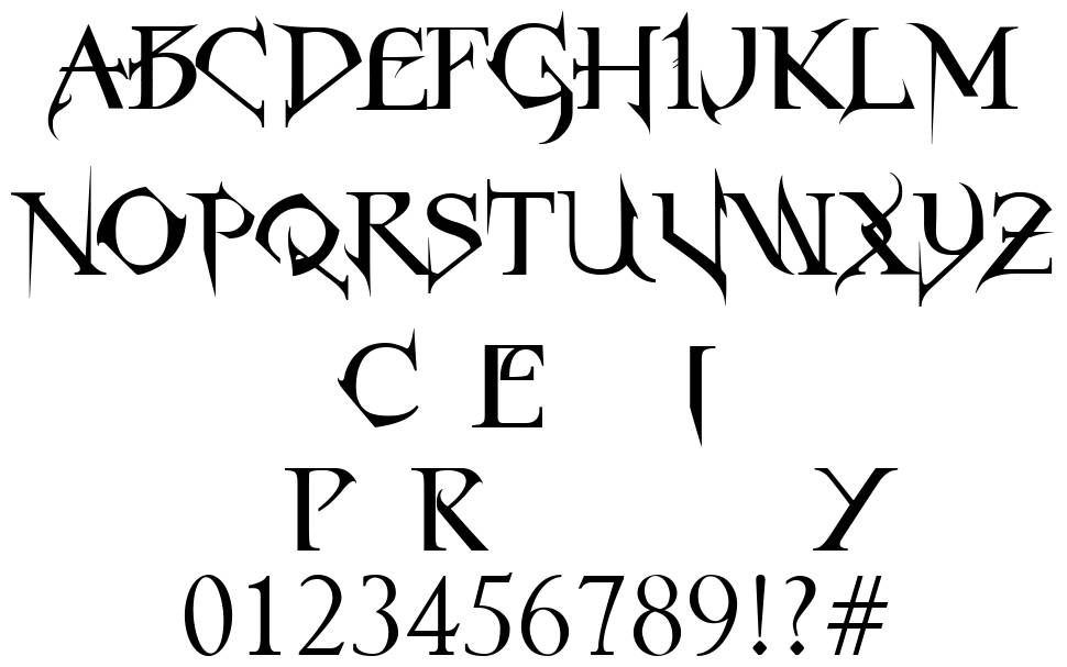 Horst Roman Gothic Font By Horst Type Foundry Fontriver