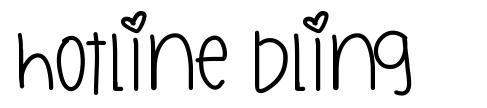 Hotline Bling font
