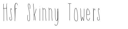 Hsf Skinny Towers font