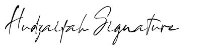 Hudzaifah Signature