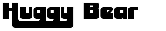 Huggy Bear font