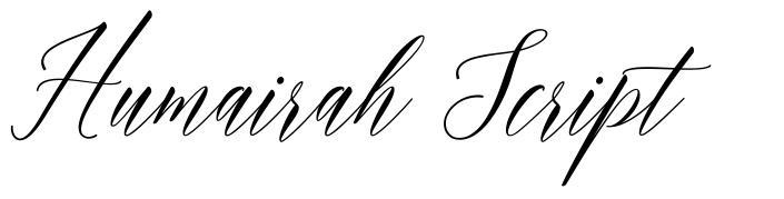 Humairah Script font
