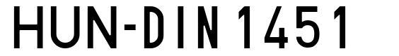HUN-din 1451 font