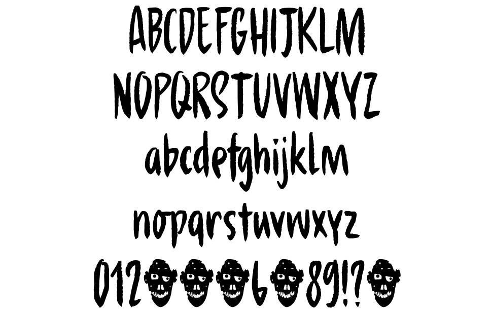 Hungry Zombie font