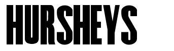 Hursheys font