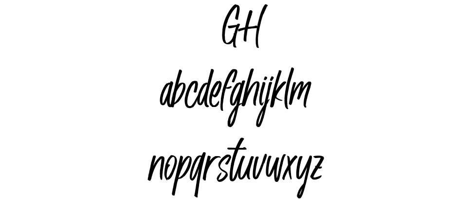 Husky Giggle шрифт