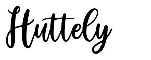 Huttely font