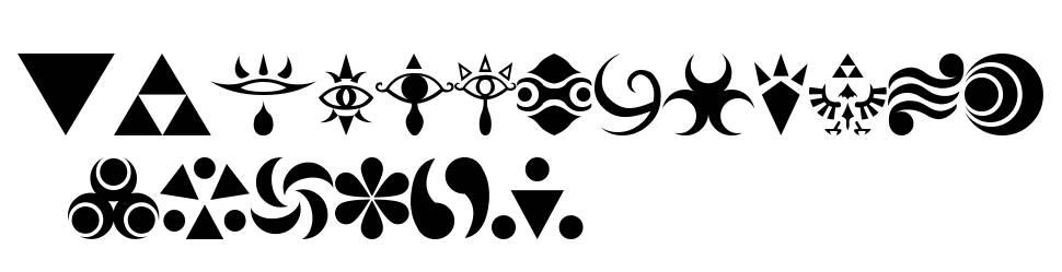 Hylian Symbols font