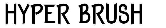 Hyper Brush font