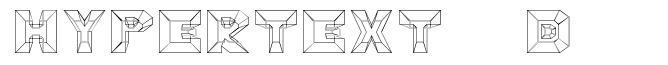 Hypertext 4D font