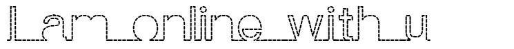 I am online with u font
