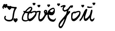 Шрифт I Love You