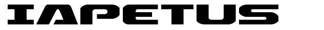 Iapetus font