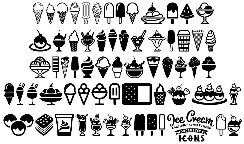 Ice Cream Icons police