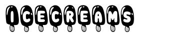 Icecreams font