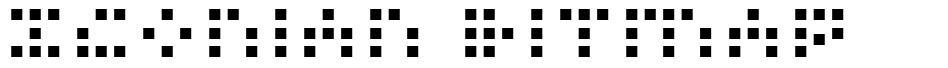 Iconian Bitmap font