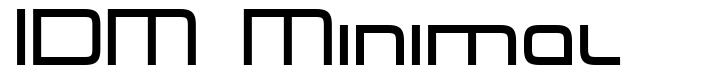 IDM Minimal