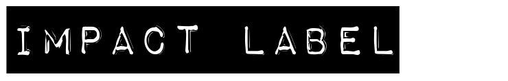 Impact Label 字形