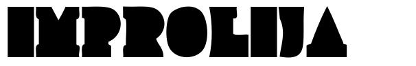 Improlija font