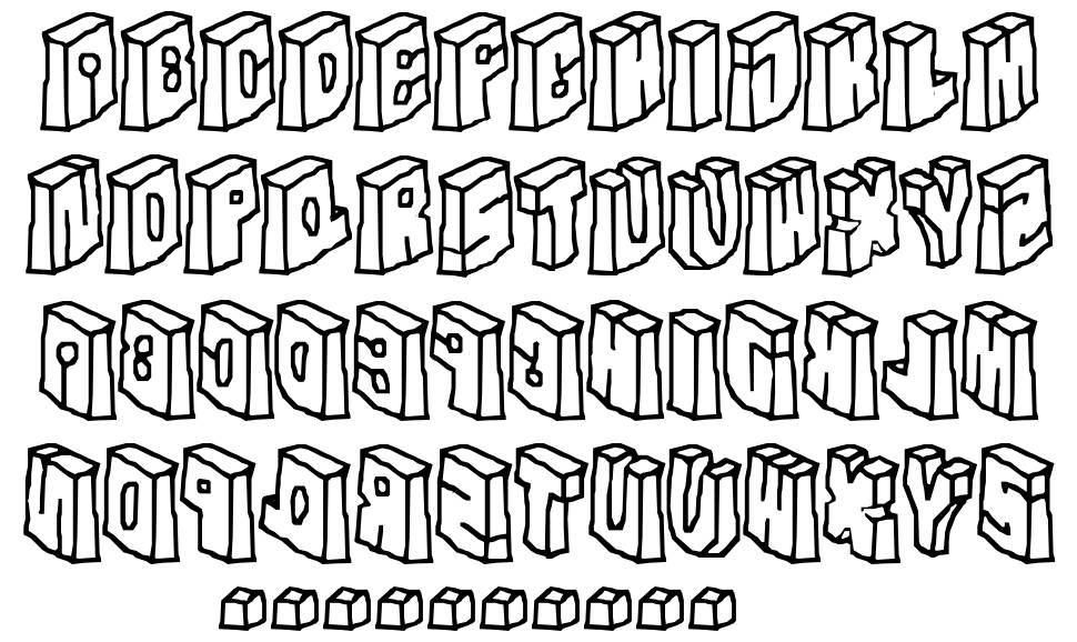 In The Flesh font