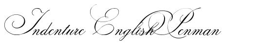 Indenture English Penman font