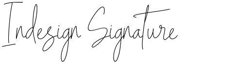 Indesign Signature