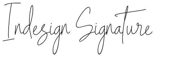 Indesign Signature fonte