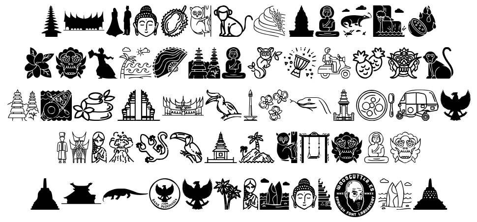 Indonesian Icons fonte