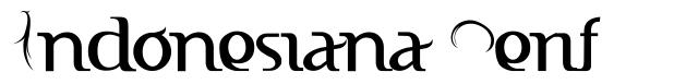 Indonesiana Serif font
