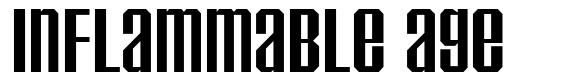 Inflammable Age font