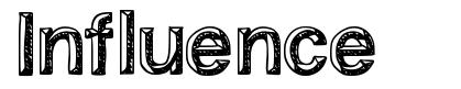 Influence font