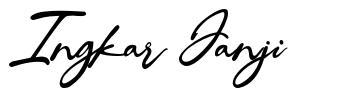 Ingkar Janji font