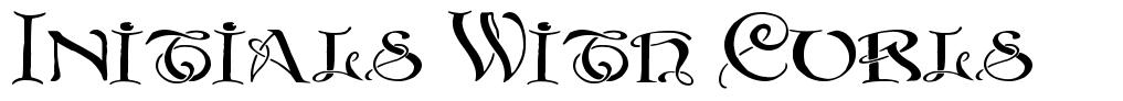 Initials With Curls 字形