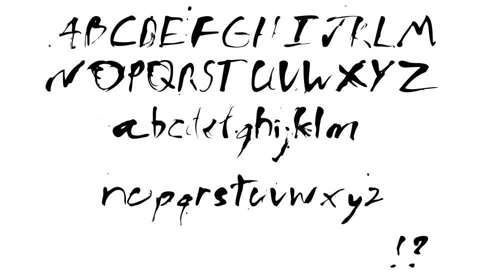 Ink Bleed font