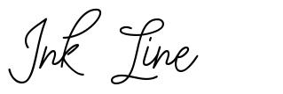 Ink Line шрифт