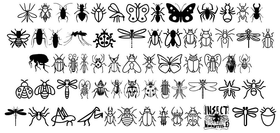 Insect Icons schriftart