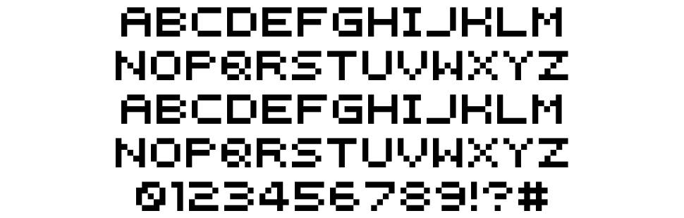 Instructions font