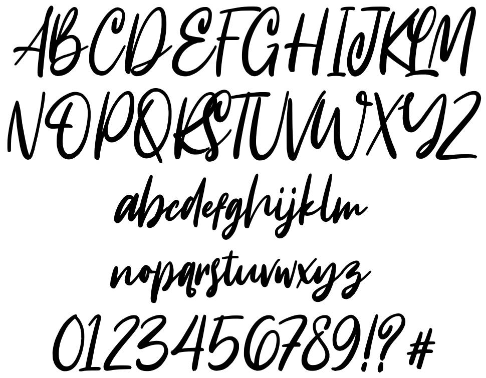 Intensity font