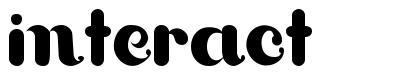 Interact font