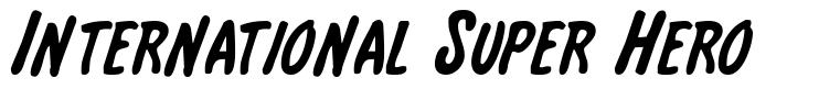 International Super Hero font