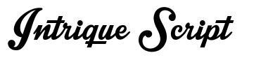 Intrique Script font