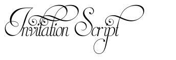 Invitation Script 字形