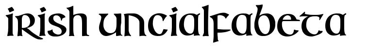 Irish Uncialfabeta font