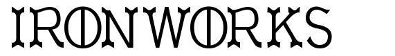 Ironworks schriftart