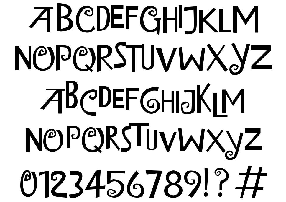 Island of Misfit Toys font