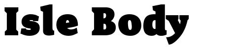Isle Body font