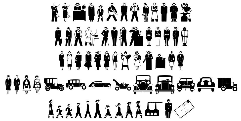 Isotype font