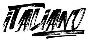 Italiano шрифт