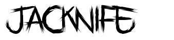 Jacknife font