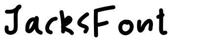 JacksFont font